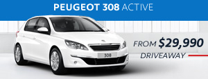 PEUGEOT 308 Active from $29,990 driveaway